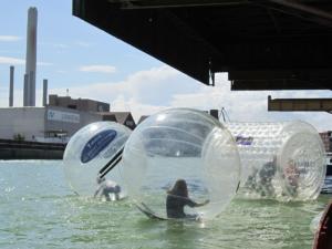 Beim Hafenfest in Münster sind Spaß und Action angesagt