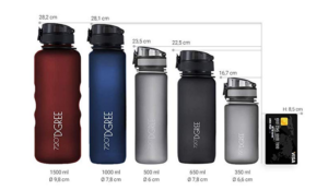 Trinkflasche aus Titan für Sport und Freizeit